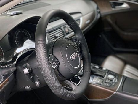 Audi A6 Wagon. Перетяжка  руля и ручки АКПП_2