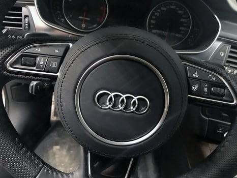 Audi A6 Wagon. Перетяжка  руля и ручки АКПП_3
