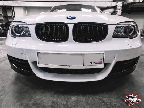 BMW 1. Перетяжка элементов салона_1