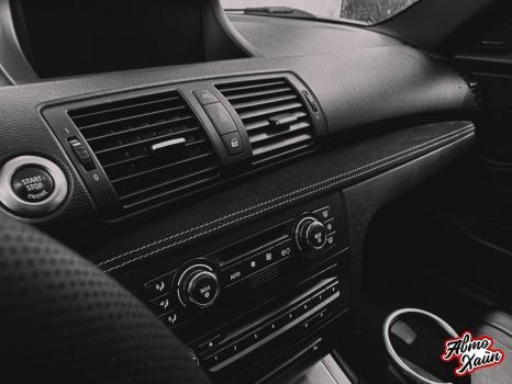 BMW 1. Перетяжка элементов салона_4