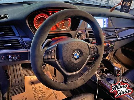 BMW X6. Перетяжка руля_4