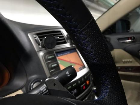 Lexus IS 250. Перетяжка руля_5