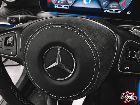 Mercedes-Benz E-класс. Перетяжка руля_3