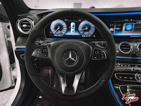 Mercedes-Benz E-класс. Перетяжка руля_4