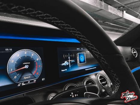 Mercedes-Benz E-класс. Перетяжка руля_7