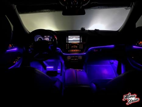 Mercedes-Benz GL. Установка подсветки салона_2