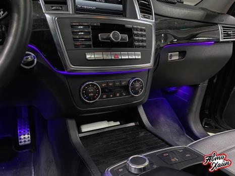 Mercedes-Benz GL. Установка подсветки салона_6