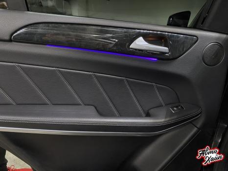 Mercedes-Benz GL. Установка подсветки салона_7