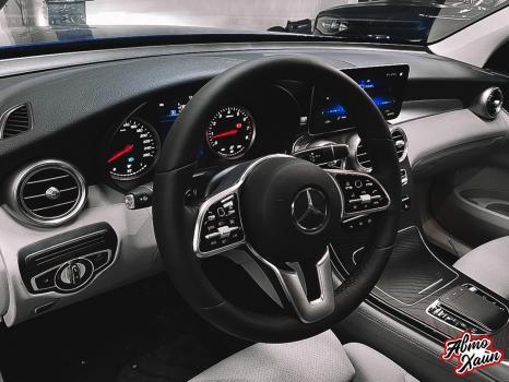Mercedes-Benz GLC. Установка обогрева и перетяжка руля_2