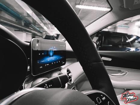 Mercedes-Benz GLC. Установка обогрева и перетяжка руля_3