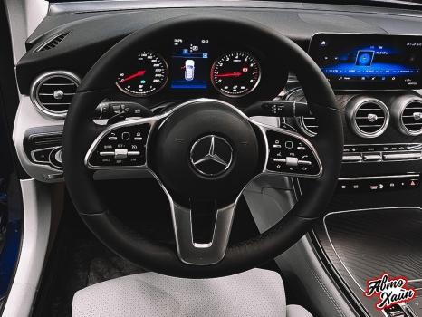 Mercedes-Benz GLC. Установка обогрева и перетяжка руля_4