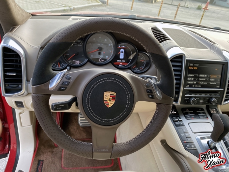 Porsche Cayenne. Перетяжка руля_7
