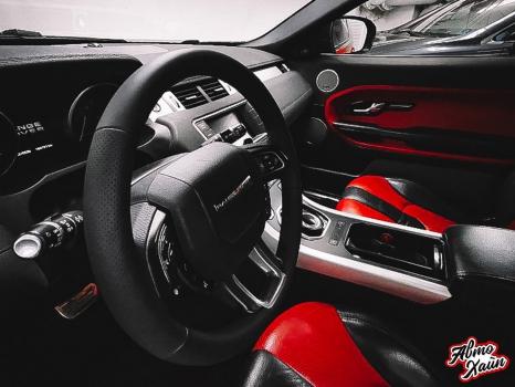 Range Rover Evoque. Перетяжка руля, реставрация сиденья_3
