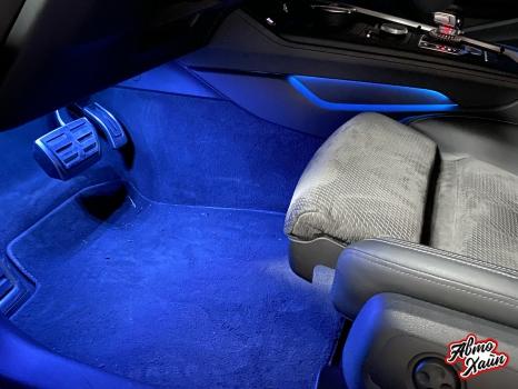 Audi A5. Подсветка салона_2