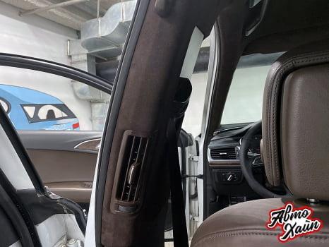 Audi A6 Wagon. Перетяжка потолка_10
