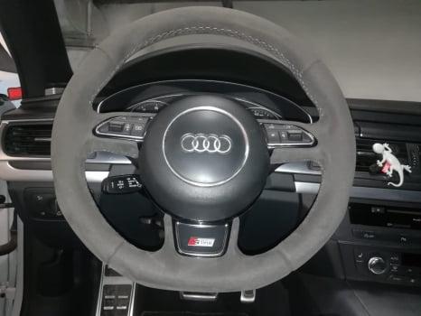 Audi A7. перетяжка руля _2