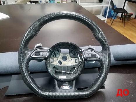 Audi RS Q3. Перетяжка руля_4