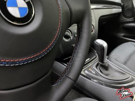 BMW 1 перетяжка руля_4