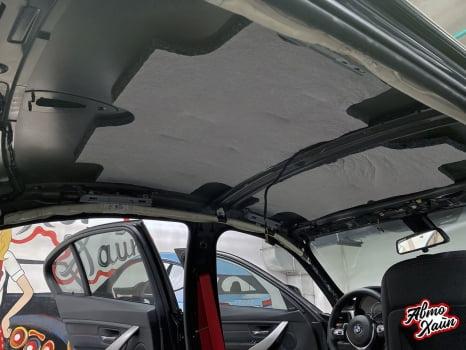 BMW 3 F30. Перетяжка и шумоизоляция потолка_2