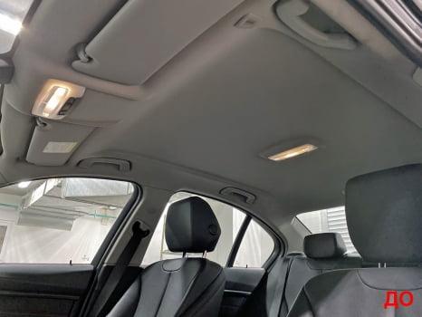 BMW 3 F30. Перетяжка и шумоизоляция потолка_7