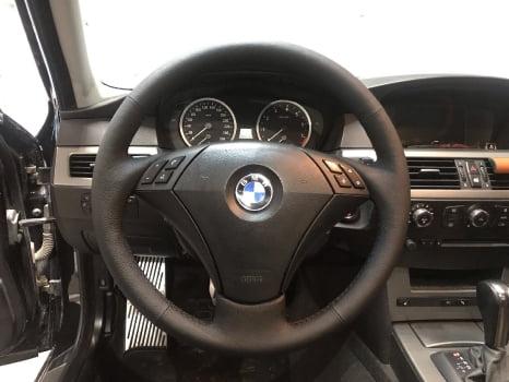 BMW 5 E60. Перетяжка руля_2