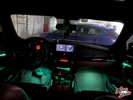 BMW X6. Подсветка салона_2