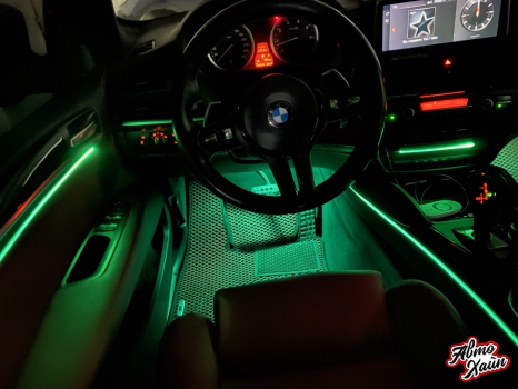 BMW X6. Подсветка салона_3