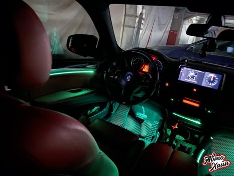 BMW X6. Подсветка салона_4