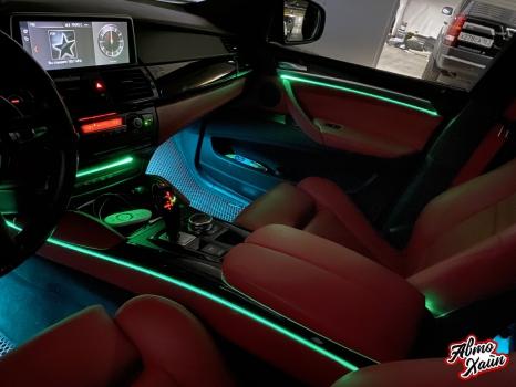 BMW X6. Подсветка салона_5