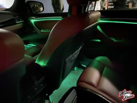 BMW X6. Подсветка салона_6