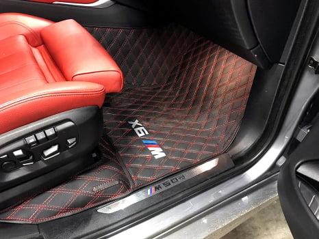 BMW X6 M50d. Пошив 3D ковриков_4