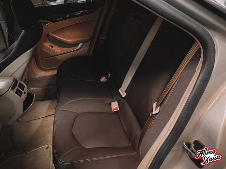 Cadillac CTS. Перетяжка салона, замена ремней безопасности_10
