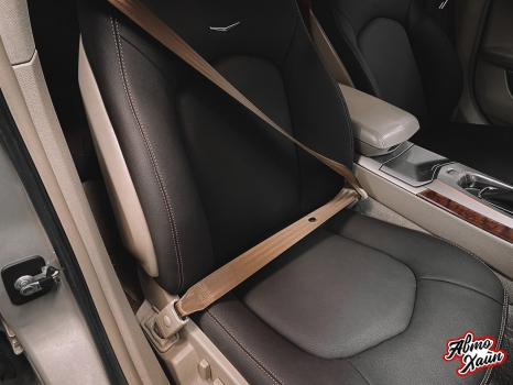 Cadillac CTS. Перетяжка салона, замена ремней безопасности_4