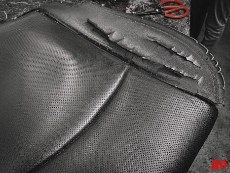 Dodge Ram. Ремонт сиденья, чистка отделки руля и и сидений_2