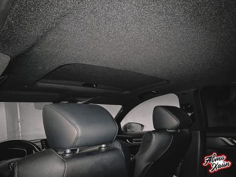 Honda Accord. Перетяжка потолка_4