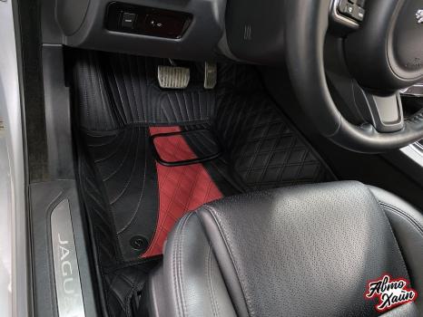 Jaguar XF. Пошив 3D ковриков_3