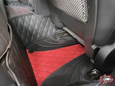 Jaguar XF. Пошив 3D ковриков_5