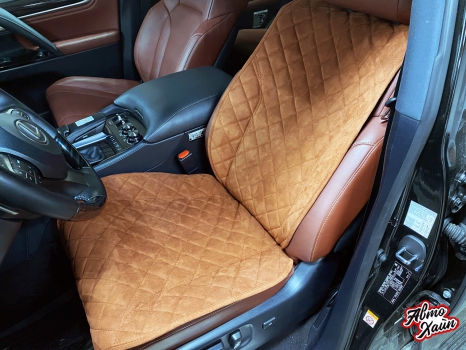Lexus LX 570. Накидки из алькантары_2