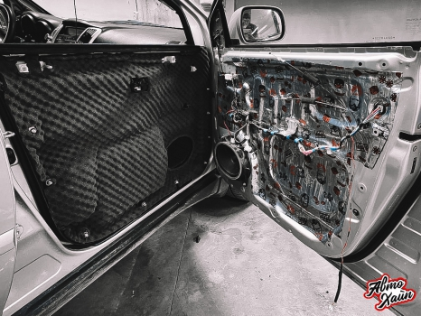 Lexus RХ350. Перетяжка и шумоизоляция потолка_10