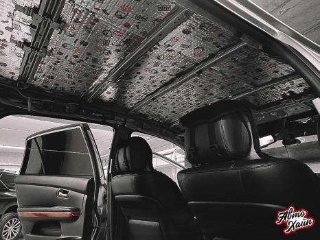 Lexus RХ350. Перетяжка и шумоизоляция потолка_3