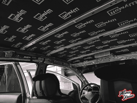 Lexus RХ350. Перетяжка и шумоизоляция потолка_4