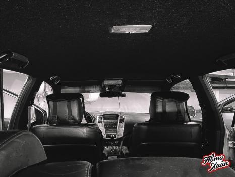 Lexus RХ350. Перетяжка и шумоизоляция потолка_5