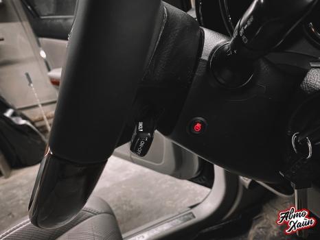 Lexus RX 450h. Перетяжка руля с установкой обогрева _2