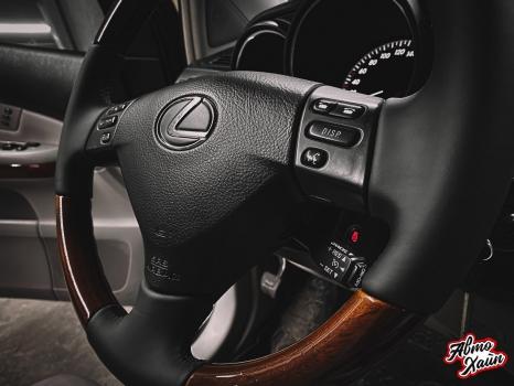 Lexus RX 450h. Перетяжка руля с установкой обогрева _3