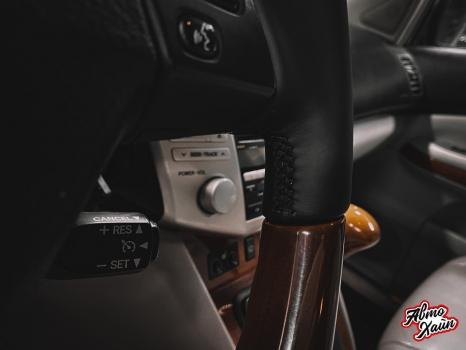Lexus RX 450h. Перетяжка руля с установкой обогрева _4
