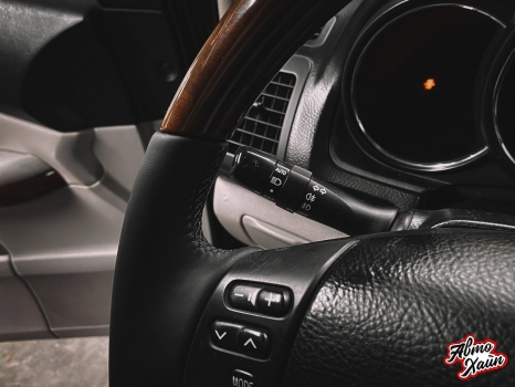 Lexus RX 450h. Перетяжка руля с установкой обогрева _6