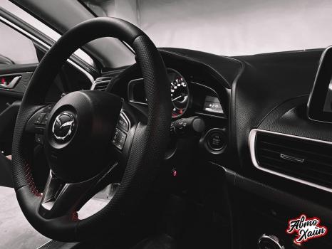 Mazda3. Перетяжка руля с установкой обогрева_2