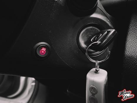 Mazda 2. Установка обогрева и перетяжка руля_4