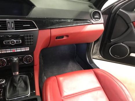 Mercedes-AMG C 63 перетяжка центральной консоли_5