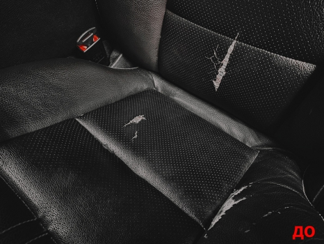 Mercedes-Benz C-класс. Реставрация кожи_2